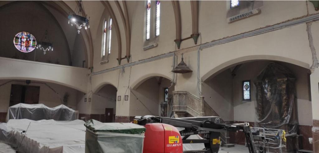 Proyecto de reforma eléctrica y pintado del templo